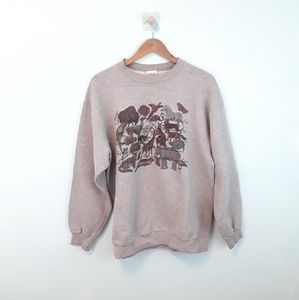 Vintage 90s Endangered Animals Crewneck Sweatshirt